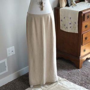 EDDIE BAUER long linen skirt